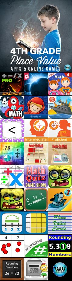 4th grade apps & online games for representing the value of the digit in…