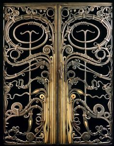 Albert Paley: bodily ornamentation-Portal Gates, 1974, of forged and fabricated steel, brass, bronze and copper. Renwick Gallery, Smithsonian Institute's National Museum of American Art