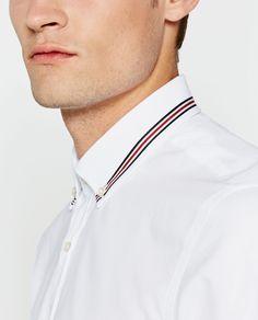 Plain White Shirt, White Shirts, Chef Jackets, Oxford, Zara, Slim, Shirt Men, Style, Fashion
