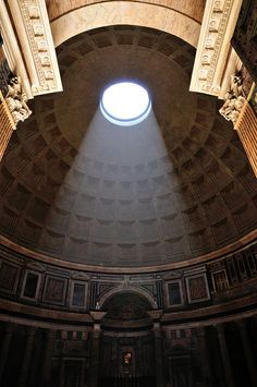 The entrance to the Pantheon in Rome