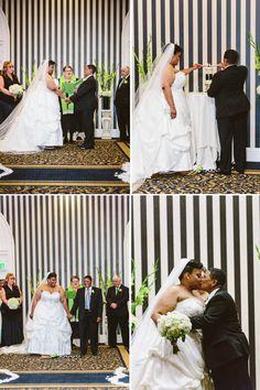Green White and Black Wedding at Hotel Shattuck Plaza, CA