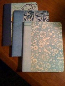 covered notebooks (yeah, sorry, not paying 20$ for a notebook)