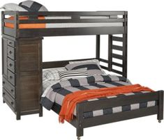 Creekside Charcoal Twin Full Student Loft Bed with Chest . $977.00. 84L x 84W x 68H. Find affordable Twin Beds for your home that will complement the rest of your furniture.