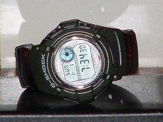 Pre-Owned Casio Green & Black DWX--112 Glide G Shock Sport Digital Watch #Casio #Sport