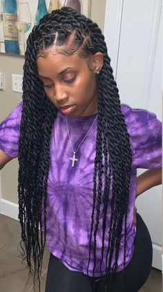 Havana twist braids , havanna twist zöpfe , tresses to… – Braided Hairstyles Braided Hairstyles For Black Women Cornrows, Braided Ponytail Hairstyles, Baddie Hairstyles, African Braids Hairstyles, Girl Hairstyles, Senegalese Twist Hairstyles, Marley Twist Hairstyles, Senegalese Twist Braids, Hairstyles 2018