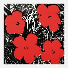 Warhol—Flowers Red II, $69, now featured on Fab.