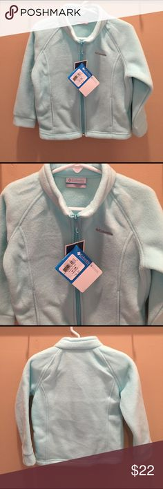 Brand new girls Columbia fleece jacket Brand-new with tags. Girl's Columbia fleece jacket. Size: 4t  Style: berry ranch fleece. Color: aqua. Full zip. 100% polyester Columbia Jackets & Coats