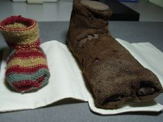 #FestArchKnit. From Regina Degiovanni, textile teacher and artist. Inspired by a study of the Coptic Sock at the Manchester Museum Regina has worked to develop a close replica by trying to understand the method which may have been used in the original construction and applying them. At Festival of Archaeology we have a longer description of her approach if you want to find out more.