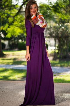 Dark Purple Maternity Dress