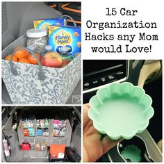 15 Car Organization Hacks any Mom would Love - Cars World Organisation Hacks, Organizing Hacks, Car Cleaning Hacks, Camping Organization, Car Hacks, Organized Mom, Getting Organized, Car Fix, Diy Car