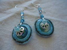Wheels in the Sky Lampwork Earrings by SushiKoDesign on Etsy, $37.00