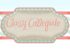 Classy Collegiate, a blog about a 20-something from Georgia trying to make each day more classy and fabulous than the day before.  Blogged by a Chi Omega from Furman University.  http://aclassycollegiate.blogspot.com