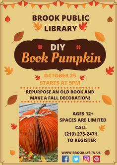 DIY Book Pumpkin