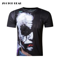 a6c1baad ZOOTOP BEAR New half face Joker 3d t shirt funny character joker Brand clothing  design 3d t shirt summer style tees top print-in T-Shirts from Men's ...