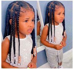 Little Black Girls Braids, Little Girl Braid Styles, Kid Braid Styles, Black Girl Braids, Braids For Black Hair, Hair Styles, Toddler Braided Hairstyles, Kids Curly Hairstyles, Cute Little Girl Hairstyles