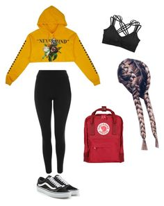 """Untitled #22"" by haileymagana on Polyvore featuring Topshop, Humble Chic, Vans and Fjällräven"