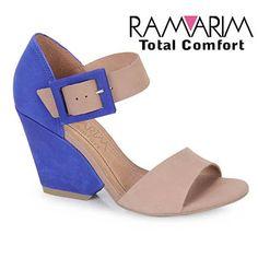 Feminino - Sandalia Salto Feminina Ramarim 12-41203 - Azul - Passarela.com - Calçados online
