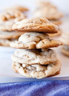 Puffy Vanilla and Peanut Butter Chip Cookies | by Averie of Averie Cooks