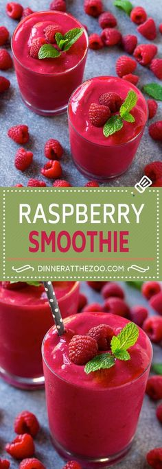 Raspberry Smoothie Recipe | Raspberry Banana Smoothie | Healthy Smoothie | Berry Smoothie | Greek Yogurt Smoothie | Dinner at the Zoo #smoothies #healthyfood
