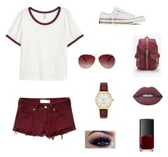"""""""On Break!!!!"""" by athlete19 ❤ liked on Polyvore featuring Abercrombie & Fitch, Converse, Herschel Supply Co., Kate Spade, MINKPINK, Lime Crime and NARS Cosmetics"""
