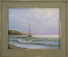 Buy At Peace, framed sailboat oil painting on canvas, Oil painting by Eva Volf on Artfinder. Discover thousands of other original paintings, prints, sculptures and photography from independent artists.