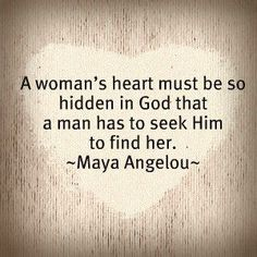 A woman's heart...