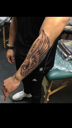 Pictures of Tattoos of wings on forearms Wing Tattoo Hand Tattoos, Forarm Tattoos, Best Sleeve Tattoos, Body Art Tattoos, Maori Tattoos, Tatoos, Forearm Wing Tattoo, Bicep Tattoo Men, Alas Tattoo