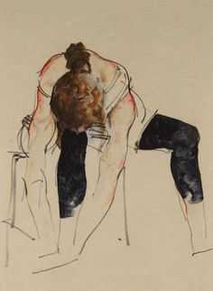 Dancer Study, Black Tights Original by Donald Hamilton Fraser