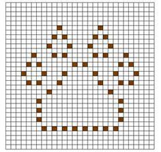 Ravelry: Paw Print Bobble Chart pattern by Kari Philpott Crochet Blocks, Afghan Crochet Patterns, Crochet Chart, Crochet Squares, Crochet Afghans, Filet Crochet, Crochet Motif, Stitch Patterns, Crochet Granny