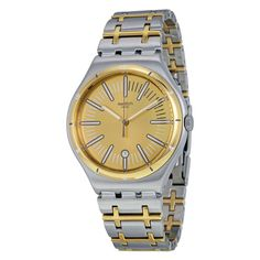 Swatch Men's Ride in Style Quartz Two-tone silver gold tone Band Silver Dial