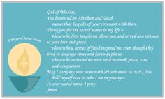 """Names hold a sacred place in our lives as we associate them with people, both living and dead, who have impacted our faith. Offer a """"Prayer of Sacred Names"""" for those who have inspired you. #Catholic #Prayers #Catholics #Family"""