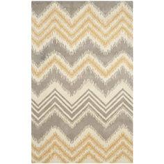 Safavieh Hand-Tufted Capri Grey/ Gold Wool Rug (4' x 6') | Overstock™ Shopping - Great Deals on Safavieh 3x5 - 4x6 Rugs
