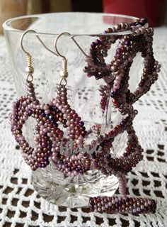 Purple spiral set. I could not find whose pattern it is. It was free on the net. Made by HTünde.