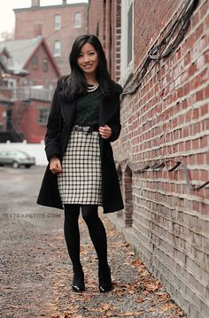 Classic black and white always works for the office. #interviewoutfit #workoutfit #bfcloset @extrapetite