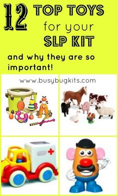 Top Toy list for language development in toddlers.  Also included are easy ways…