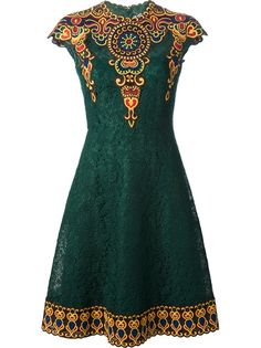 Valentino Embroidered Floral Lace Dress
