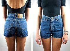 70s Babe High Waist Denim Shorts / LEVI by HotelBrahvoVintage