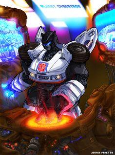 Jazz Live at Planet Cybertron by Josh Perez at dyemooch.deviantart.com   #Transformers  #Autobots