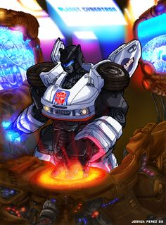 Jazz Live at Planet Cybertron by Josh Perez at dyemooch.deviantart.com #Transformers #Autobots