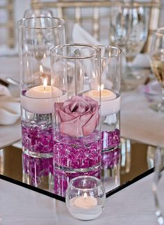 Le Vase en Verre Droit Cylindrique Haut 25 cm Luxe | Décoration de table mariage | Mariage.
