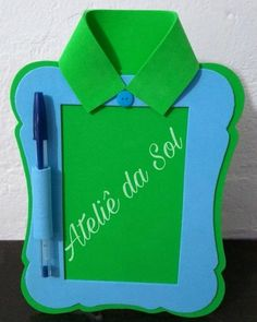 Lembrancinhas dia dos pais - Craft Tutorial and Ideas Felt Crafts, Bible Crafts, Diy And Crafts, Crafts For Kids, Paper Crafts, Creative Activities For Kids, Father's Day Diy, Dad Day, Fathers Day Crafts