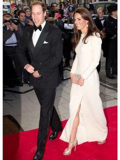 Kate Middleton Prince William white gown