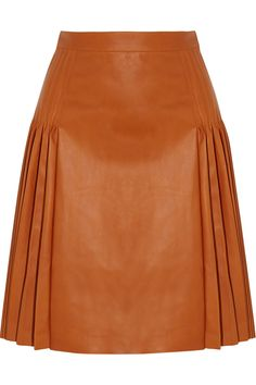Givenchy | Pleated leather skirt | NET-A-PORTER.COM
