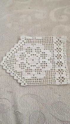 How to Crochet Wave Fan Edging Border Stitch Crochet Border Patterns, Crochet Bedspread Pattern, Crochet Lace Edging, Crochet Curtains, Crochet Squares, Thread Crochet, Crochet Trim, Love Crochet, Crochet Doilies