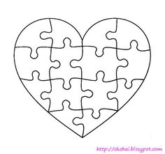 Puzzle Of Life 谜图人生: Free Heart Shaped Puzzle Template