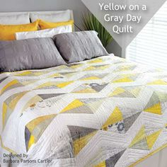 Create a dynamic modern quilt using Half-Square Triangle quilt blocks.