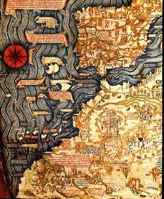 Spain, Portugal and Northern Africa - from Fra Mauro map, 1450