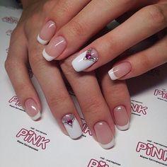 Imagine nails and manicure - bridal nail idea Lace Wedding Nails, Bridal Nails, Wedding Rings, Cute Nails, Pretty Nails, My Nails, French Nails, French Manicures, Nail Manicure