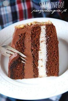 tort czekoladowy z nutella i chocolate cake with nutella and Polish Desserts, Polish Recipes, Cookie Desserts, Dessert Recipes, Nutella, Vegan Junk Food, Torte Cake, Cake Flavors, Diy Cake