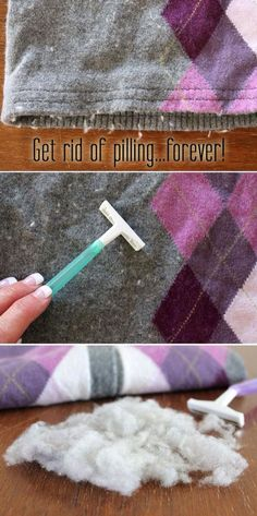 Get rid of pulling forever! Easy trick to depill clothing